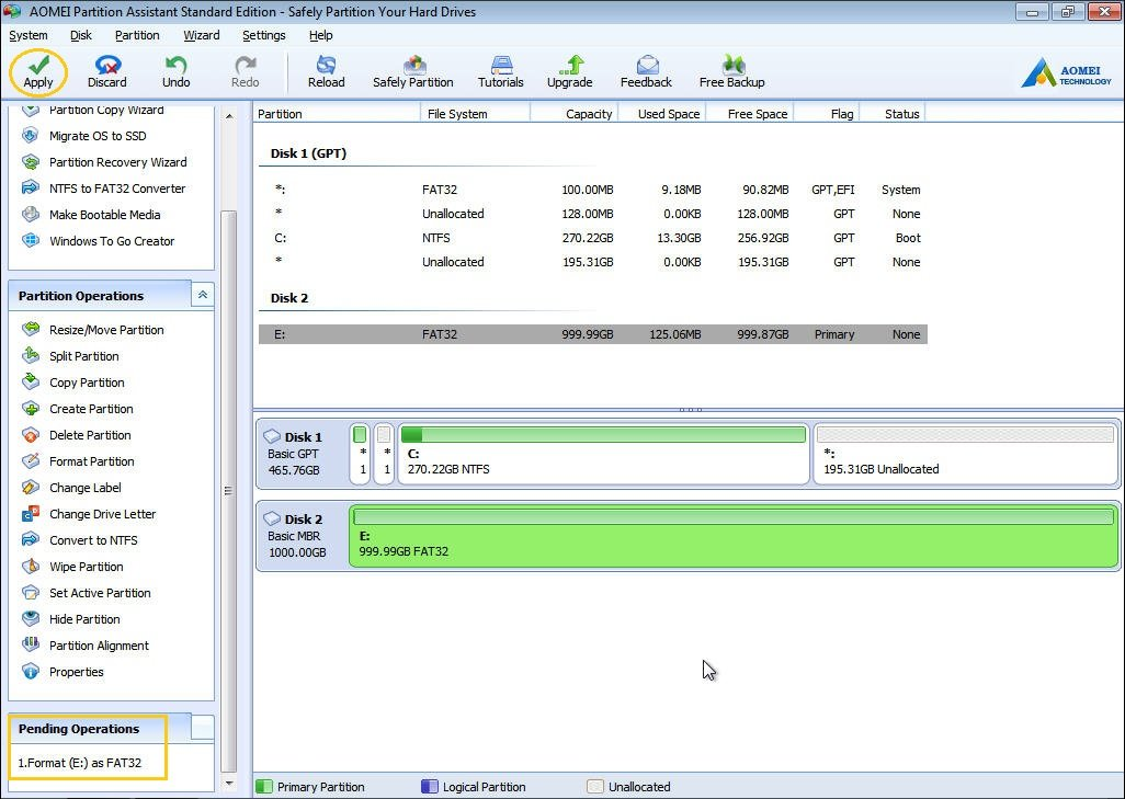 how to format my external hard drive windows 7