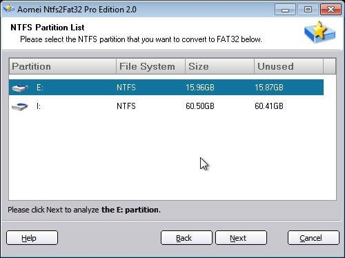 NTFS Partition List