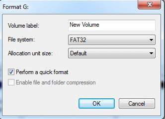 Disk Management Format G