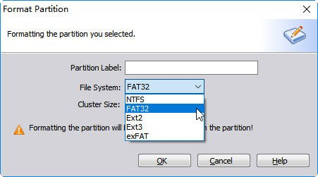 Format Selected Partition