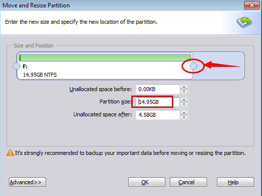 Resize VHD partition