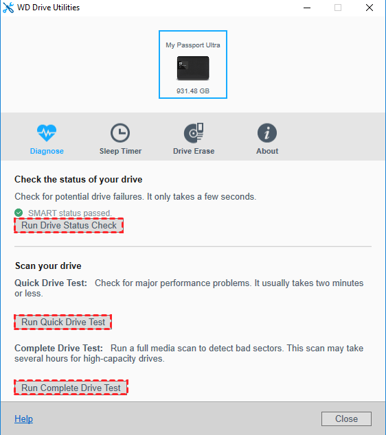 Solutions to WD Drive Utilities Quick Drive Test Failed