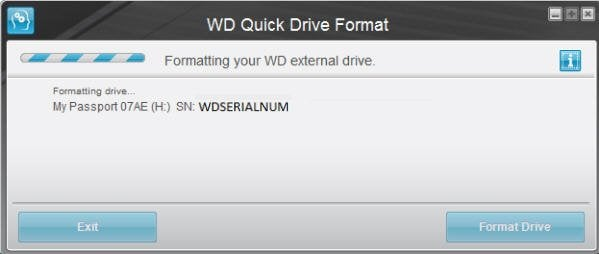 WD Quick Drive Format