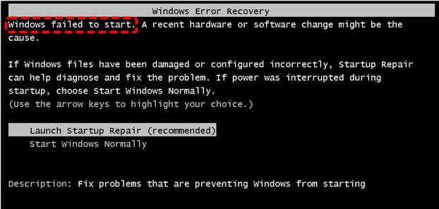 Windows Fails To Start