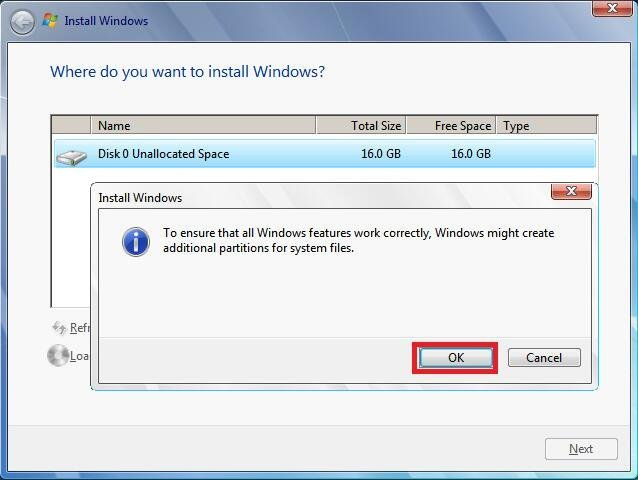 Additional Partition