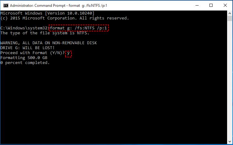 Format Command