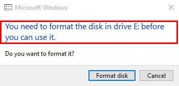 You Need to Format the Disk Before You Can Use it