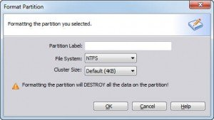 Partition Formatted