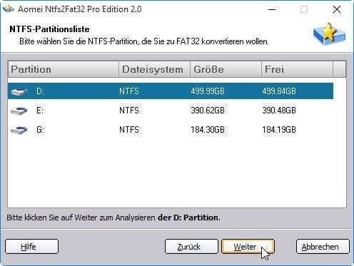 Externe Festplatte in FAT32 umwandeln