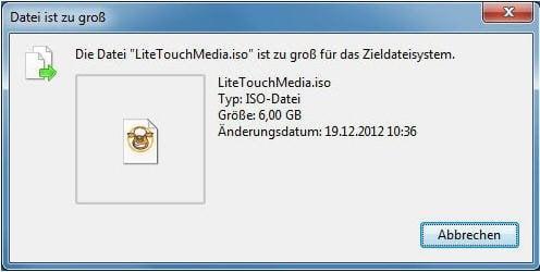 Datei zu groß