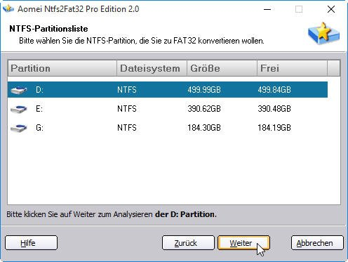 how to convert external hard drive to ntfs