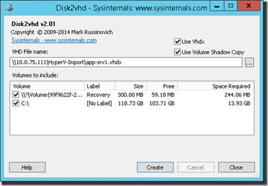physische Festplatte in VHDX konvertieren
