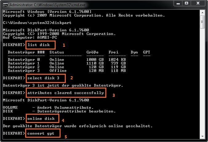 Diskpart Initialize Disks