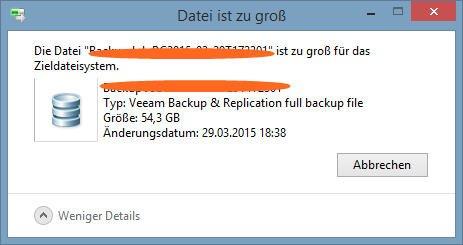 Datei ist zu groß
