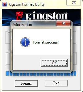 erfolgreich formatiert