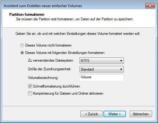 NTFS-Dateisystem