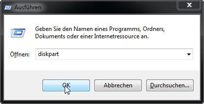 DiskPart öffnen