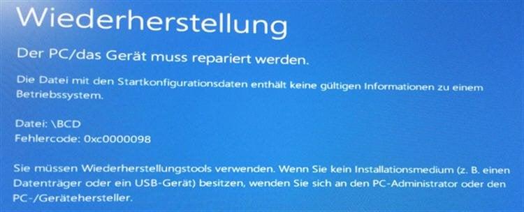 Windows Fehlermeldung