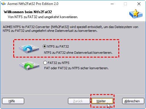 NTFS to FAT32