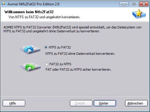 NTFS zu FAT32