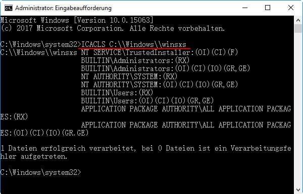 Windows Sicherheitsbeschreibung ändern