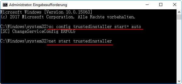 Start Trustedinstaller