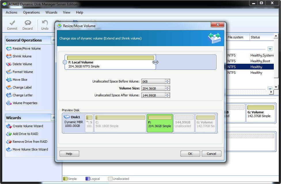 dynamich disk manager