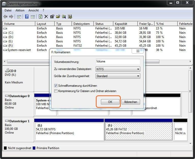 in NTFS formatieren