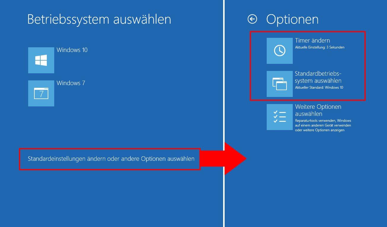 Betriebssystem wählen