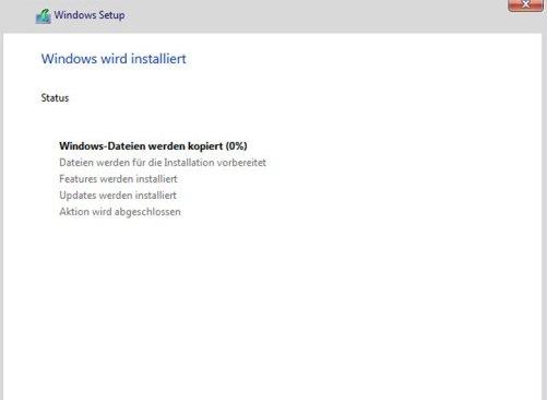 Windows wird installiert