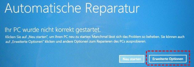 Automatische Reparatur