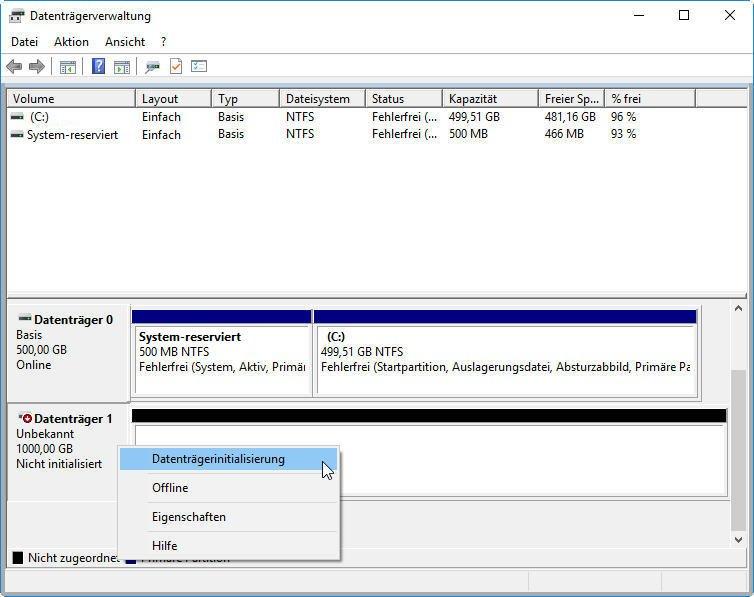 Datenträgerinitialisierung Mbr Oder Gpt