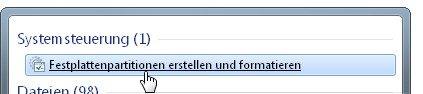 Datenträgerverwaltung suchen