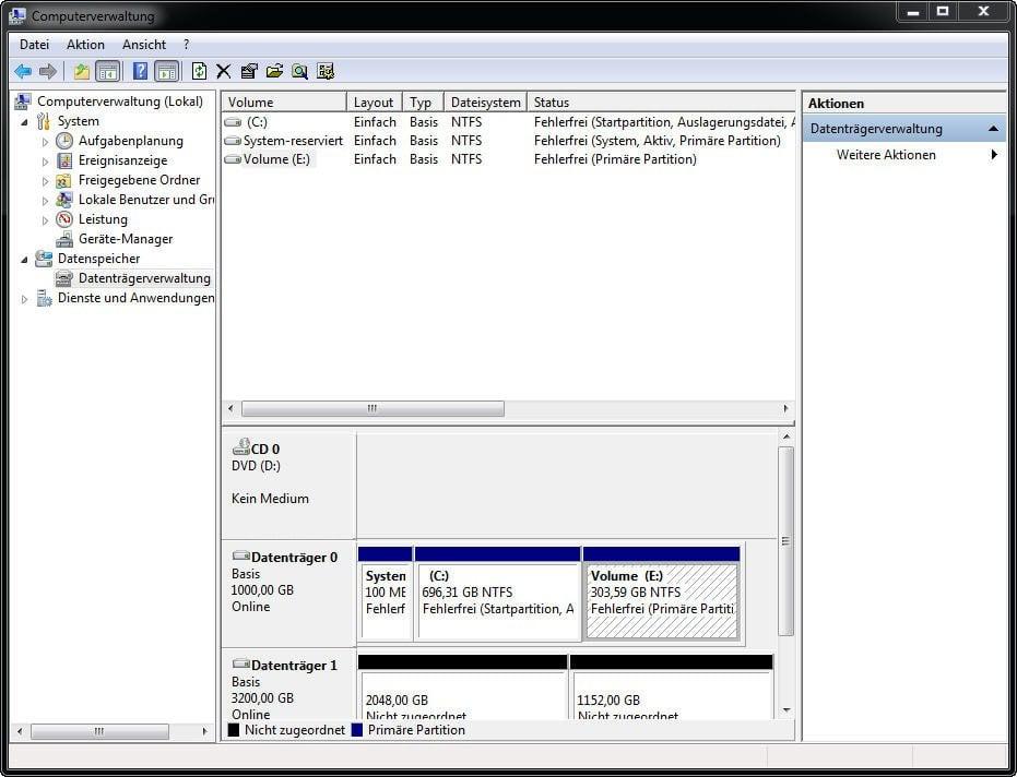 Neue Partition In Windows 7 Ohne Formatierung Erstellen