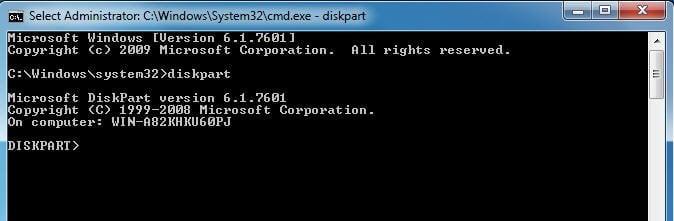 Windows 7 Diskpart
