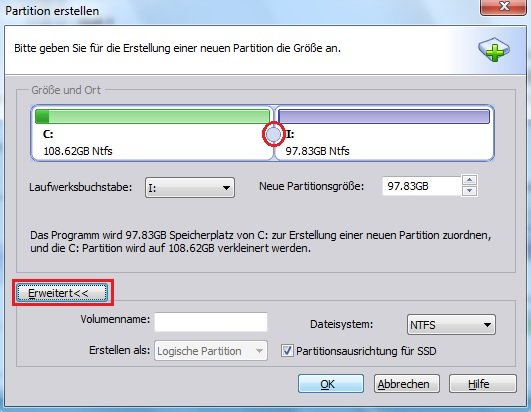 how to create new partition in windows 8