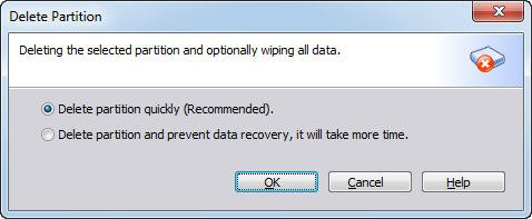 how to delete partition from diskpart
