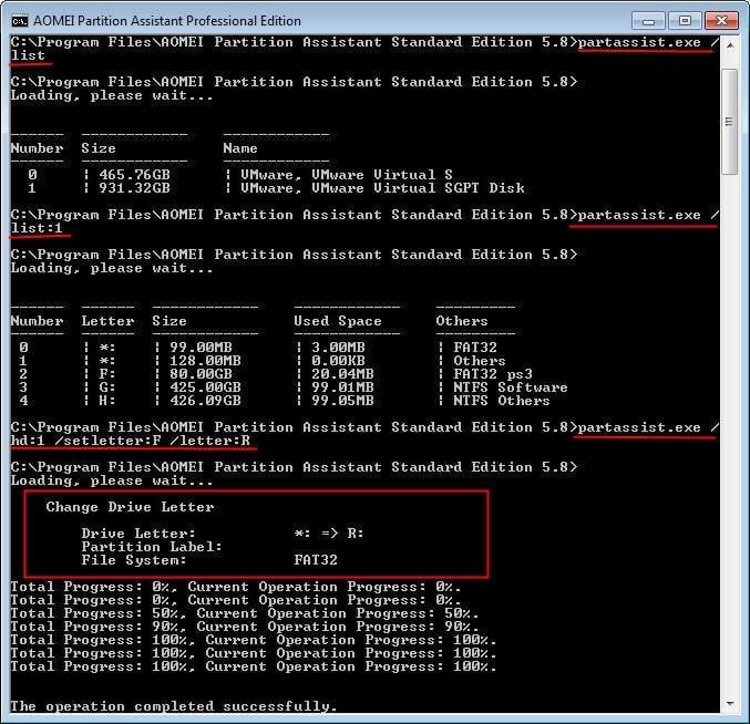 diskpart assign desire page script