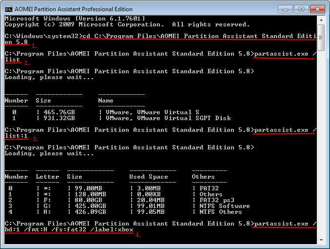 how to use diskpart command to create partition