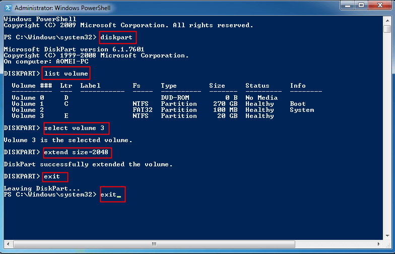 Extend Partition PowerShell