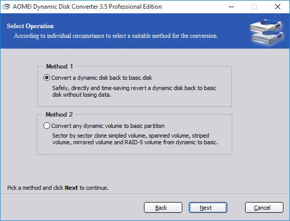 Convert a Dynamic Disk to Basic