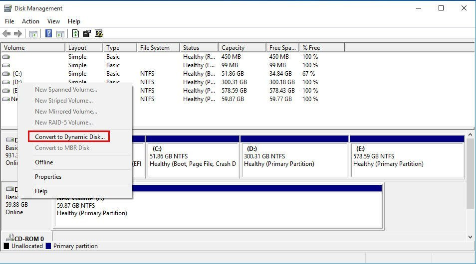 Convert to Dynamic Disk