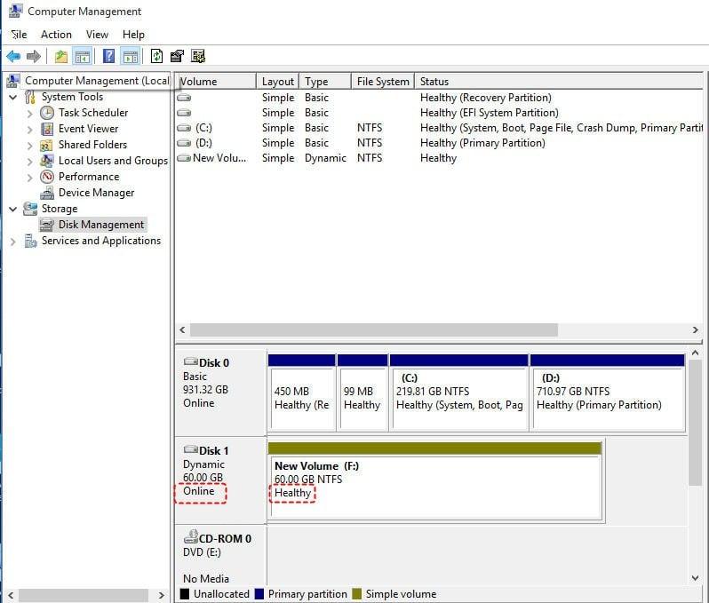 Dynamic Disk Online