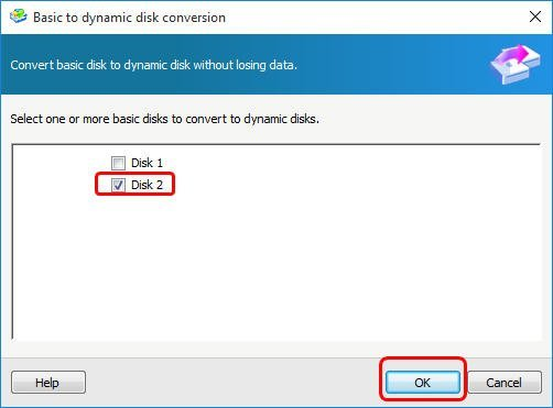 Convert Basic Disk to Dynamic Disk without Losing Data
