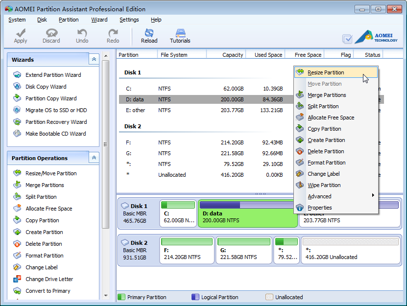 AOMEI Partition Assistant Pro 6