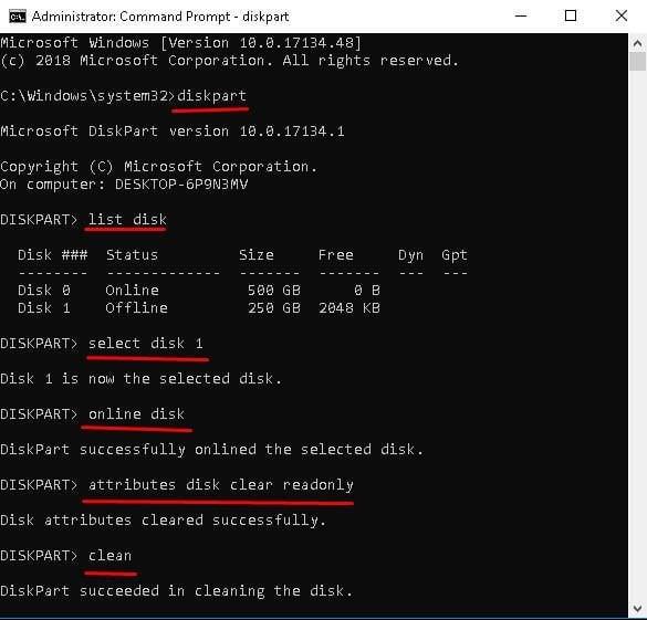Formater le disque RAW en NTFS-1