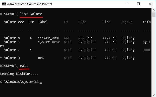 Formater le disque RAW en NTFS-3