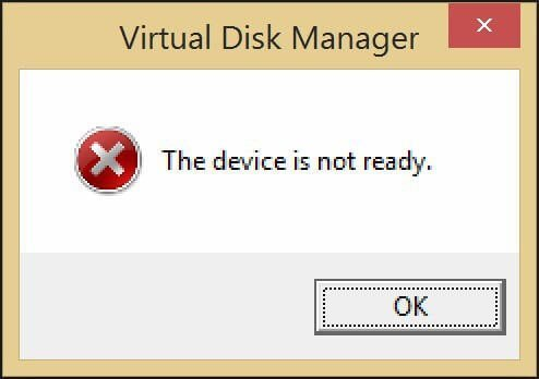 The Device Is Not Ready