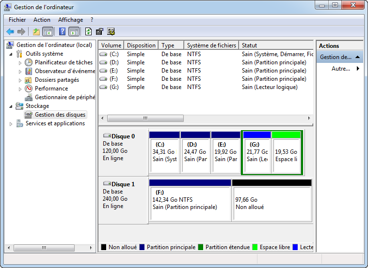 how to create logical partition in windows 8