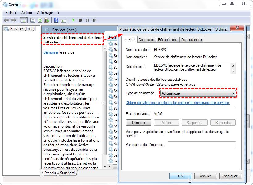 Service de chiffrement de lecteur BitLocker